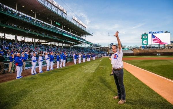THE BOOK OF MORMON star David Larsen (Elder Price) sings the Chicago Cubs National Anthem.