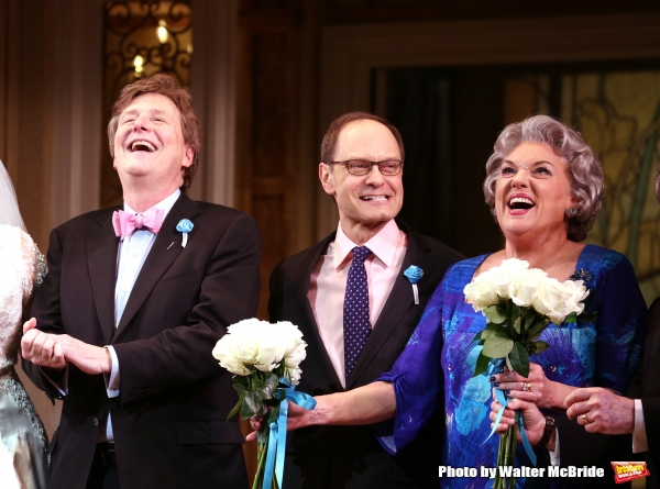 Brian Hargrove, David Hyde Pierce and Tyne Daly