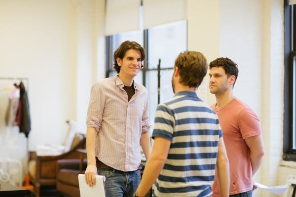 Director Alex Timbers with Justin Bartha & Lucas Near-Verbrugghe