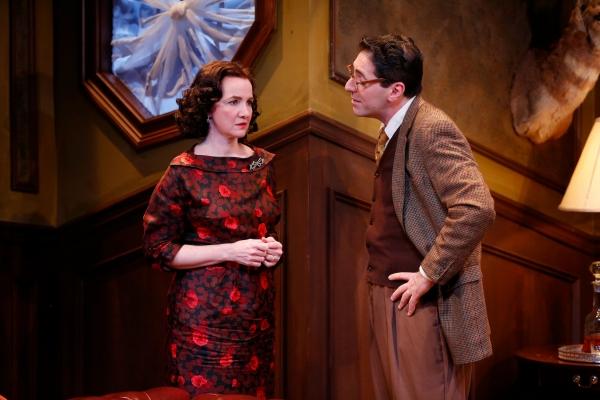 Pamela Sabaugh (Laura Warwick) and Nicholas Viselli (Michael Starkwedder) Photo