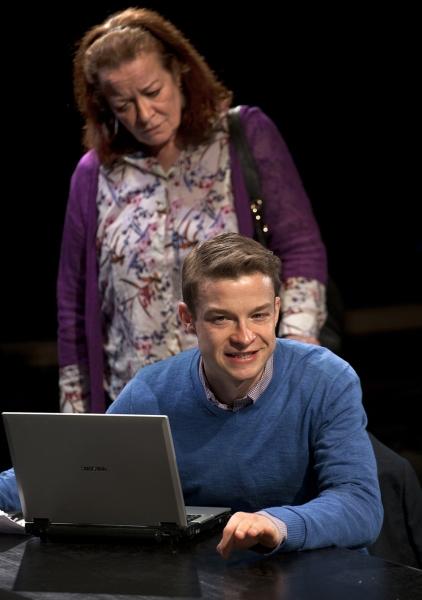 Ryan Wichert as Josh Moon and Clare Higgins as Verity Stokes Photo