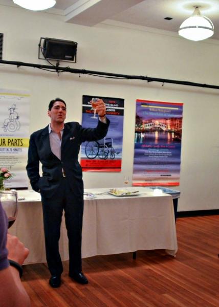 Nicholas Viselli toasts Ike Schambelan Photo