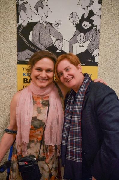 Anita Hollander and playwright Kate Moira Ryan