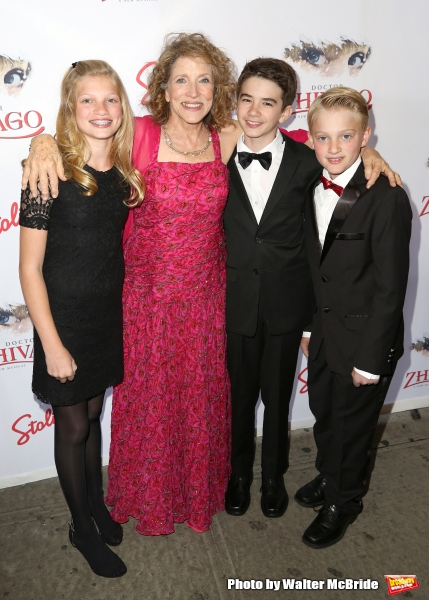 Lucy Simon with her grandchildren