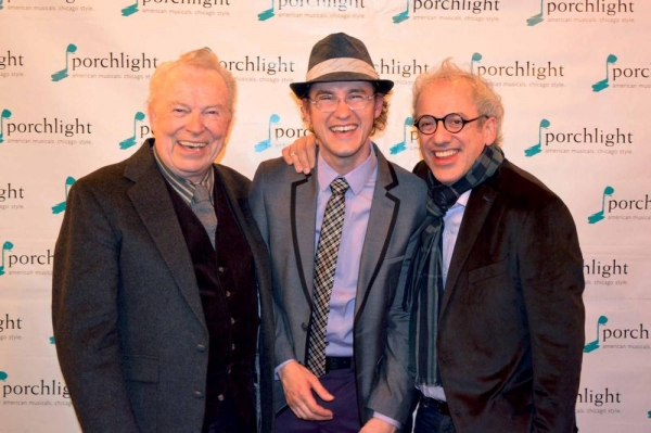 """Three Generations of �""""Hysteriums''- (L to R) Candlelight Theatre Playhouse, 1978; Dale Benson, Porchlight Artistic Associate and Porchlight's 2015 production; Matt Crowle and Fox Valley Repertory, 2006; Mark Kaplan"""