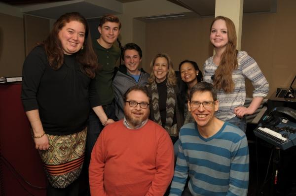 Robin Carus, Michael Nigro, Joshua Spencer, Music Director Beth Falcone, Lexi Tobin and Hillary Fisher with creators Dan Acquisto and Sammy Buck