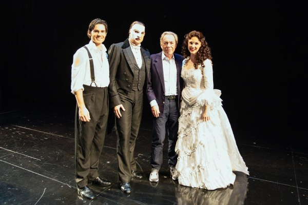 Andrew Lloyd Webber with Cast