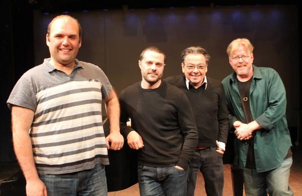 Matt Perri (music director), Joshua Bergasse (choreographer), Bill Castellino (director), and Christopher McGovern (music & lyrics)