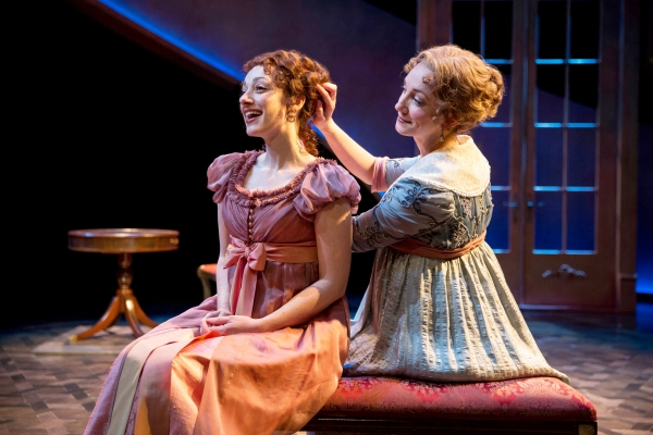 The wildly passionate Marianne Dashwood (Megan McGinnis) and her practical and and dutiful sister, Elinor Dashwood (Sharon Rietkerk)