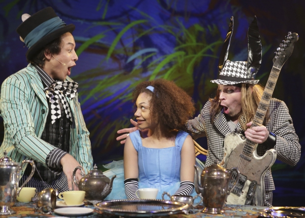 Matthew Yee plays the Mad Hatter, Ariana Burks is Alice and Adam Michaels plays the March Hare