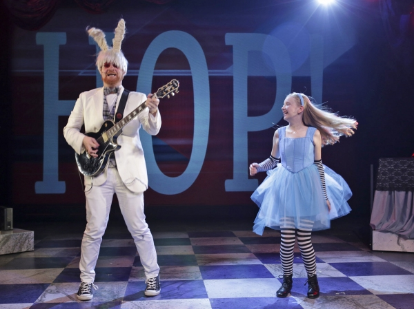 Matt Deitchman is the White Rabbit and Isabelle Roberts plays Alice Photo