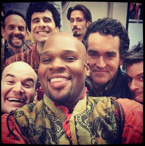 Michael James Scott, Brian d'Arcy James, and Cast