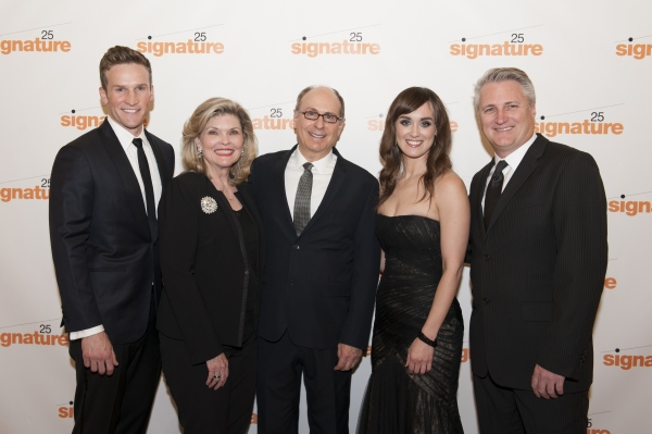 Claybourne Elder, Debra Monk, James Lapine, Brynn O'Malley, and Signature Theatre Artistic Director Eric Schaeffer