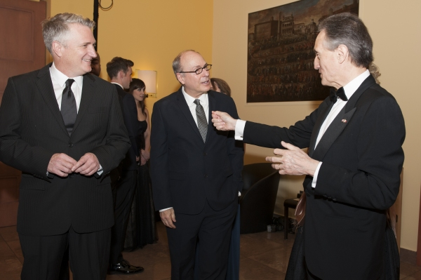 Eric Schaeffer, James Lapine and Claudio Bisogniero