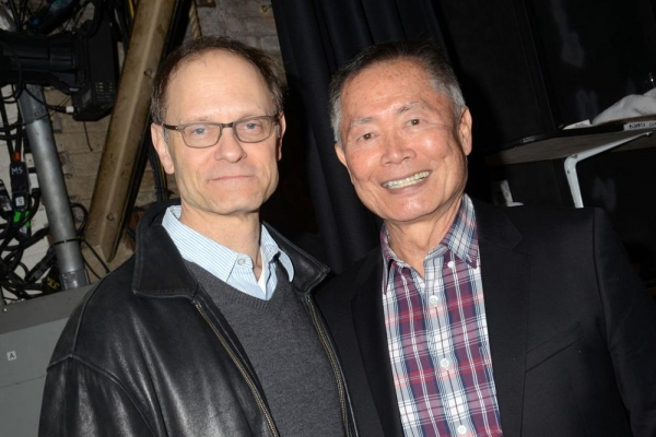 David Hyde Pierce and George Takei