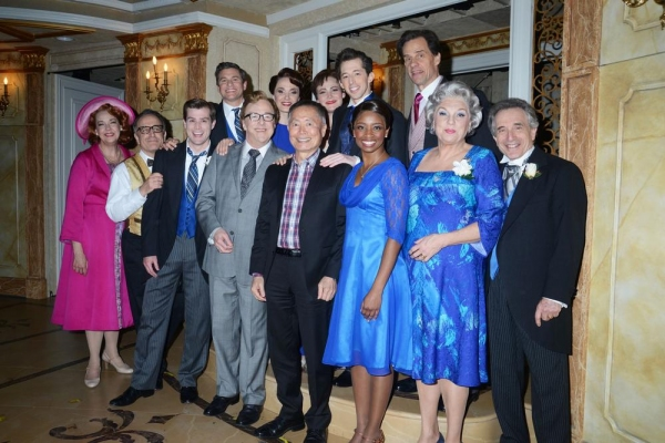 George Takei with the cast of IT SHOULDA BEEN YOU