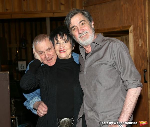 John Kander, Chita Rivera and Roger Rees