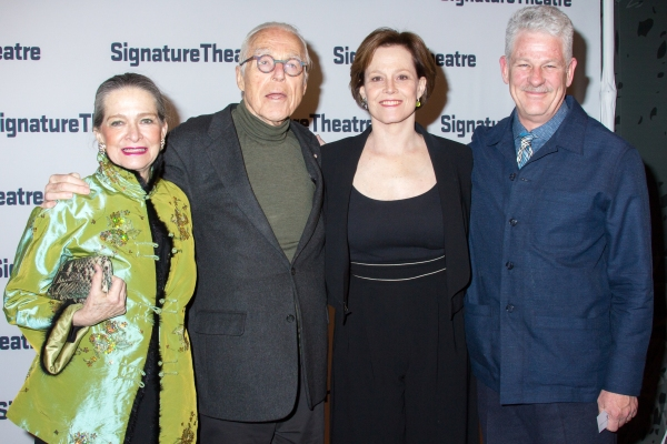 John Guare, Sigourney Weaver, Jim Simpson and guest