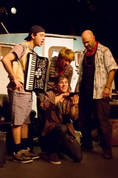 Ben Hilzer (Davey), John Brown (ginger), Augustus Truhn (Johnny) and John Hauser (Lee)