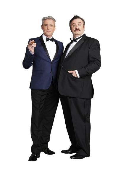 Michael Praed and Mark Benton