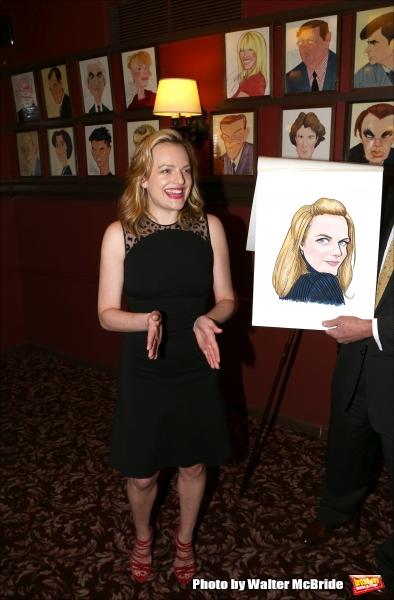 Photo Coverage: Elisabeth Moss Sardi's Caricature Unveiling