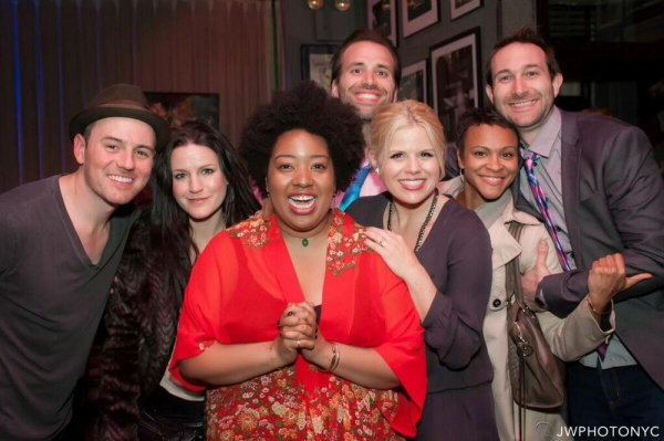 Brian Gallagher, Carrie Manolakos, Celisse Henderson, Brian Patrick Murphy, Megan Hilty, Carly Hughes and Rob Rokicki