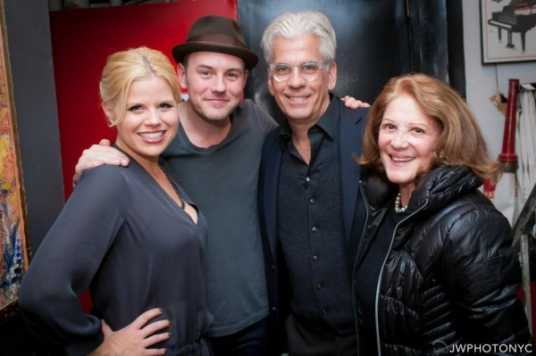 Megan Hilty, Brian Gallagher, Steve Bakunas and Linda Lavin