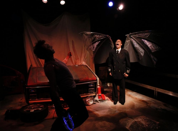 Angel Bones (Selena Whitaker-Paquiet) delivering a vision to Red (Carter Rodriquez)  Photo