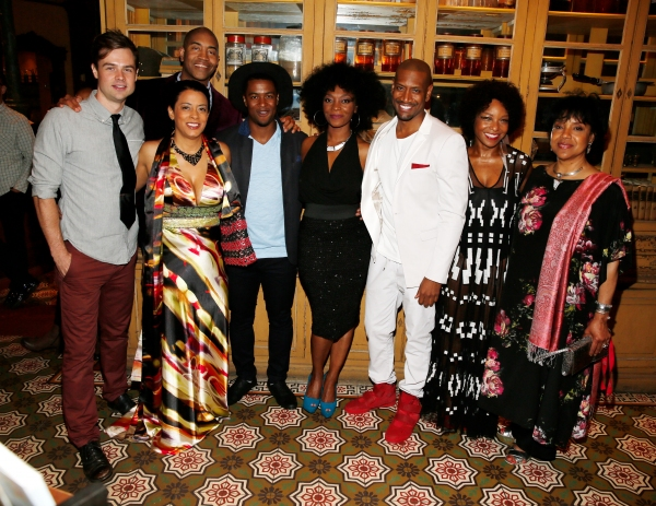 Cast members Mark Jude Sullivan, Cynda Williams, Playwright Paul Oakley Stovall and cast members Kamal Angelo Bolden, Shanesia Davis, Bryan Terrell Clark, J. Nicole Brooks and Director Phylicia Rashad