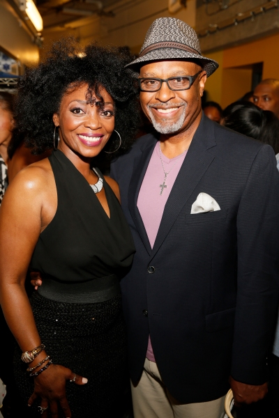 Cast member Shanesia Davis and actor James Pickens Jr.