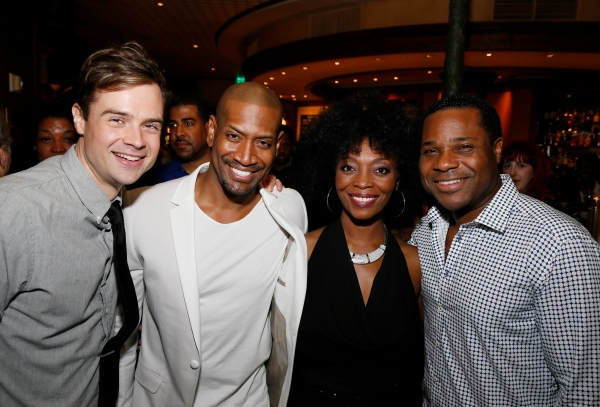 Cast members Mark Jude Sullivan, Bryan Terrell Clark, Shanesia Davis and actor Malcolm-Jamal Warner