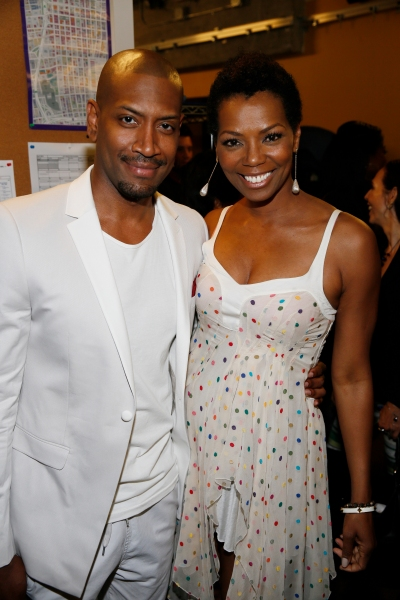 Cast member Bryan Terrell Clark and actress Vanessa Williams