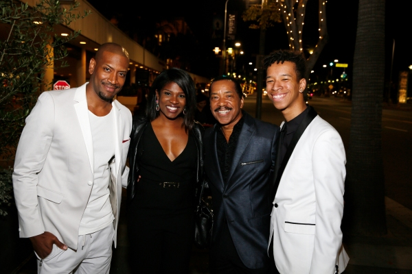 Cast member Bryan Terrell Clark and actors Edwina Findley Dickerson, Obba Babatunde and Malachi Cohen