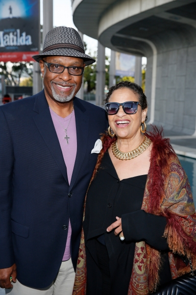 Actor James Pickens Jr. and Debbie Allen