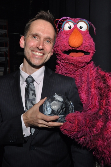 Brian C. Hemesath and Sesame Street''s Telly Monster Photo