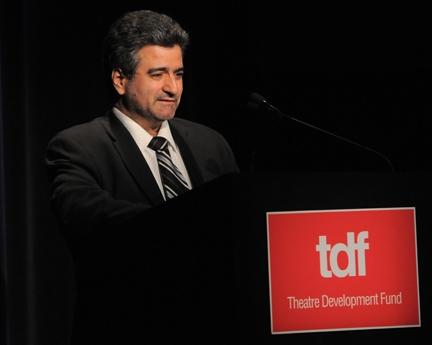 Artisan Awardee Gino Bifulco of T.O. Dey Shoes accepts his award Photo