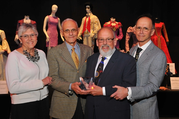Tobin Theatre Arts Fund''s Linda Hardberger, Mel Weingart and Robert Perziola with L.B. Tobin Awardee, Douglas W. Schmidt