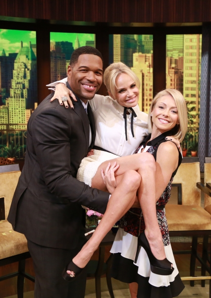 Kristin Chenoweth, Kelly Ripa and Michael Strahan