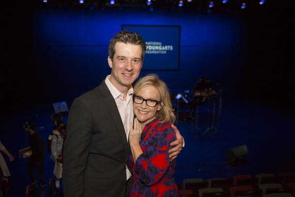 Christian Hebel and Rachael Harris Photo