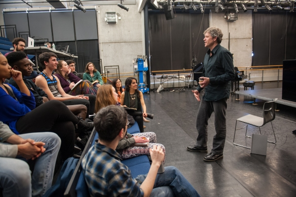 Young Arts Master classes and Workshops with Jay Scheib, Daniel Bernard Roumain, Jonathan Groff, Stew, and Santiago Fontana at BAC and Pearl Studios on April 28, 2015. Photo by Stephanie Berger.