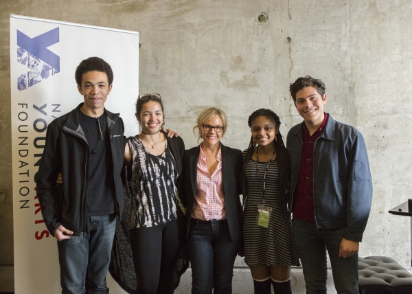 Rachael Harris with her master class students Photo