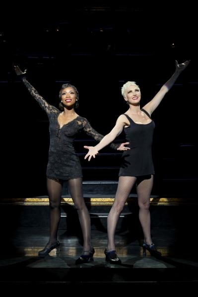 Brandy Norwood as ''Roxie Hart'' and Amra-Faye Wright as ''Velma Kelly''