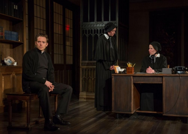 Steve Haggard (Father Flynn), Eliza Stoughton (Sister James) and Karen Janes Woditsch (Sister Aloyius)