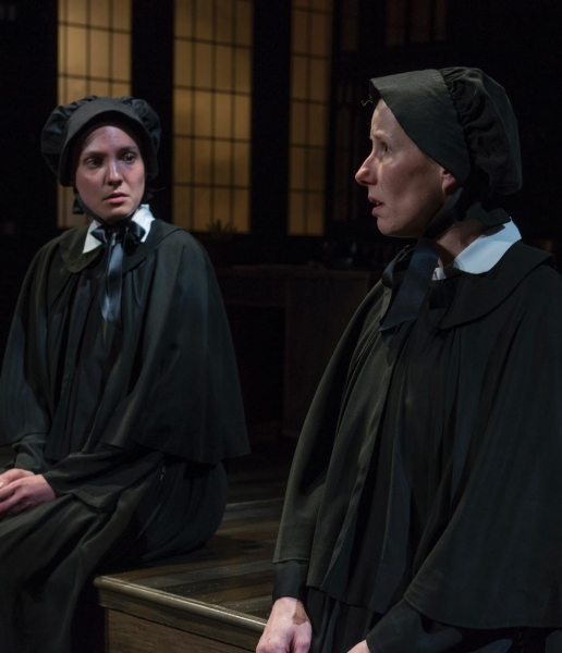 Eliza Stoughton (Sister James) and Karen Janes Woditsch (Sister Aloyius)