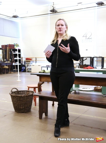 Director Kathleen Marshall during an press rehearsal for the Paper Mill Playhouse production of ''Ever After'' at the New 42nd Street Studios on May 7, 2015 in New York City.