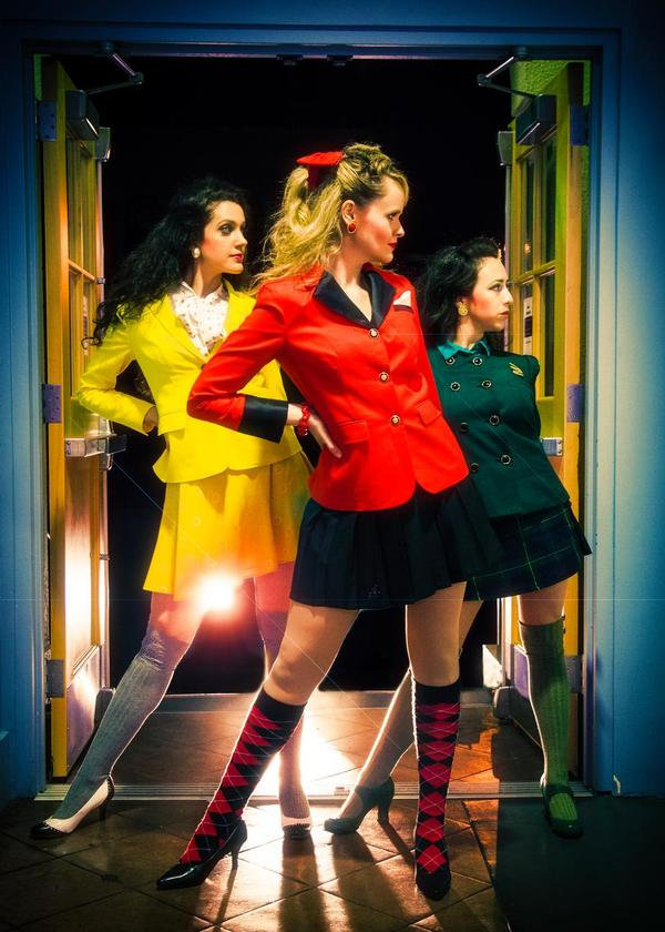 Lizzie Moss, Jocelyn Pickett and Samantha Cardenas as the Heathers Photo