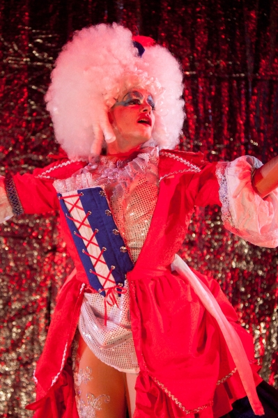 Alex Mills as his character Jerry''s Drag persona, Betty-May Photo