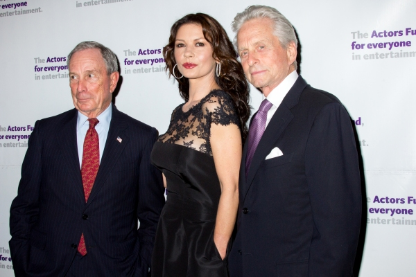 Michael Bloomberg, Catherine Zeta-Jones, Michael Douglas