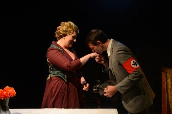 Anna Kirkland as Elisabeth Schwarzkopf with Levi Morger as Joseph Goebbels Photo