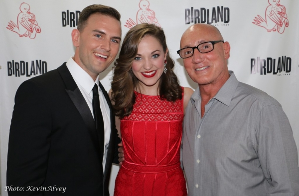 Daniel Reichard, Laura Osnes and Gianni Valenti